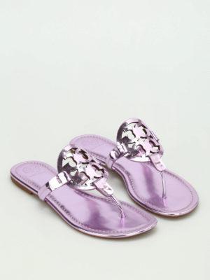 Tory Burch: flip flops online - Miller patent leather flip flop