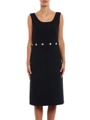 Tory Burch: knee length dresses online - Fremont wool blend shift dress