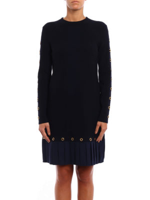 Tory Burch: knee length dresses online - Shiloh pleated bottom knit dress