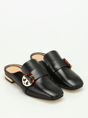 Tory Burch: Loafers & Slippers online - Sydney backless leather loafers