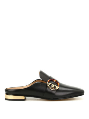 Tory Burch: Loafers & Slippers - Sydney backless leather loafers