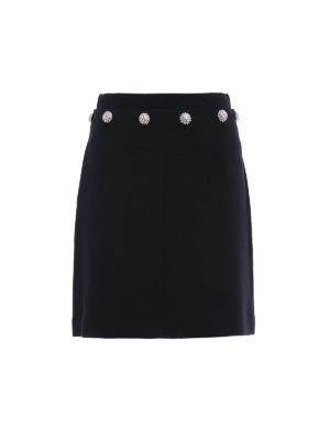 Tory Burch: mini skirts - Fremont wool blend flared skirt