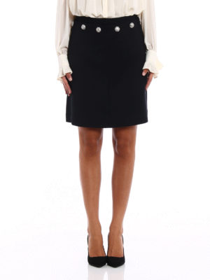 Tory Burch: mini skirts online - Fremont wool blend flared skirt