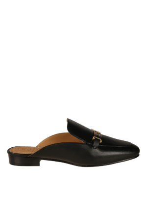 Tory Burch: mules shoes - Amelia black leather mules