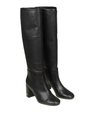 TORY BURCH: stivali online - Stivali Brooke Slouchy in nappa con logo