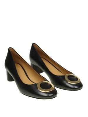 TORY BURCH: scarpe décolleté online - Décolleté Caterina in pelle con logo