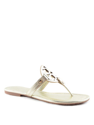 Tory Burch: sandals online - Miller leather thong sandals