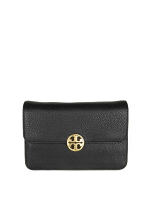 TORY BURCH: borse a spalla - Borsa Chelsea Shoulder Bag in pelle a grana