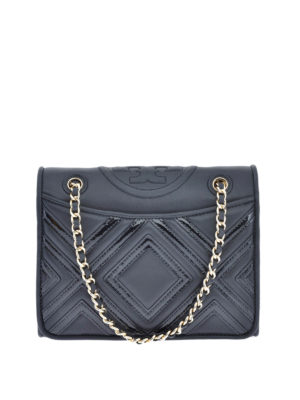 Tory Burch: shoulder bags - Fleming Geo quilted leather bag
