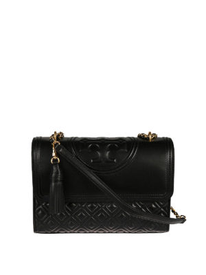 Tory Burch: shoulder bags - Fleming leather bag