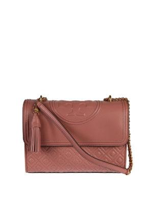Tory Burch: shoulder bags - Fleming leather shoulder bag