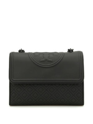Tory Burch: shoulder bags - Fleming quilted rubberized bag