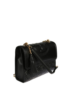 Tory Burch: shoulder bags online - Fleming leather bag