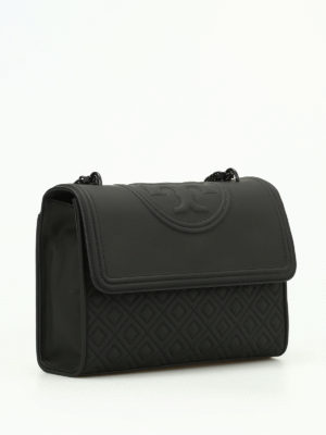 Tory Burch: shoulder bags online - Fleming quilted rubberized bag