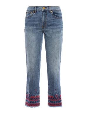 Tory Burch: straight leg jeans - Myeres jeans