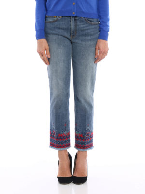 Tory Burch: straight leg jeans online - Myeres jeans