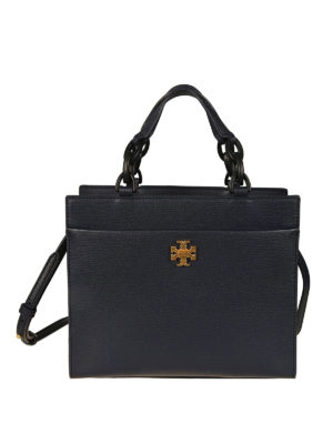 Tory Burch: totes bags - Kira royal navy leather small tote