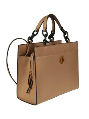 Tory Burch: totes bags online - Kira light sand leather small tote