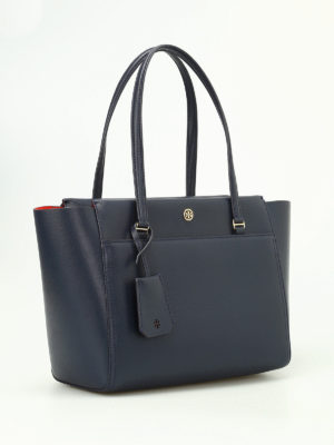 Tory Burch: totes bags online - Parker navy small tote