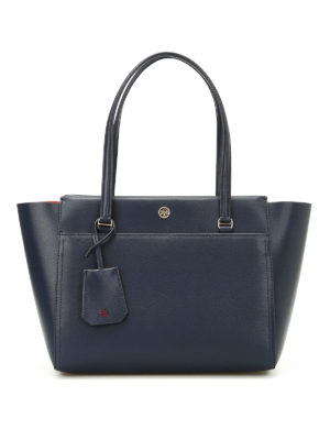 Tory Burch: totes bags - Parker navy small tote