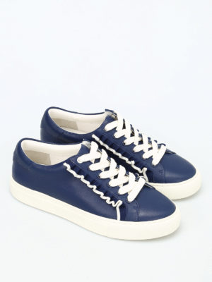 Tory Burch: trainers online - Ruffle leather sneakers