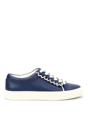 Tory Burch: trainers - Ruffle leather sneakers