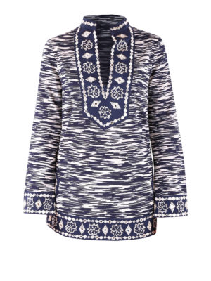 Tory Burch: tunics - Sixties space-dyed knitted tunic