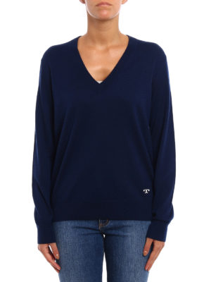 Tory Burch: v necks online - Marilyn cashmere sweater