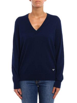 Tory Burch: v necks online - Marilyn cashmere sweater