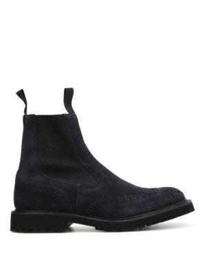 Tricker's: ankle boots - Henry suede Chelsea boots