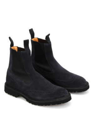 Tricker's: ankle boots online - Henry suede Chelsea boots
