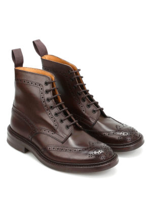 Tricker's: ankle boots online - Stow Country brogued ankle boots