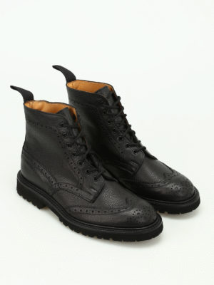 Tricker's: ankle boots online - Stow hammered leather booties