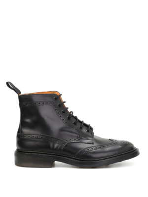 Tricker's: ankle boots - Stow Country brogued ankle boots