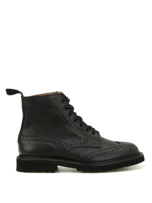 Tricker's: ankle boots - Stow hammered leather booties