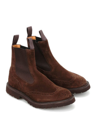 Tricker's: boots online - Henry Commando brogued suede boots