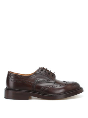 TRICKER'S: classiche - Derby brogue Bourton in pelle