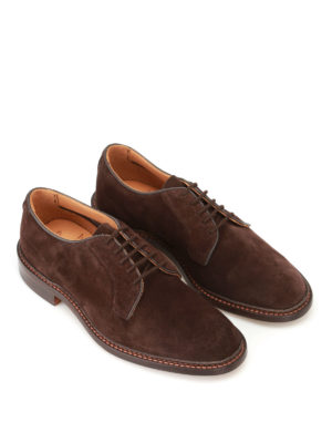 Tricker's: classic shoes online - Robert brown suede Derby shoes