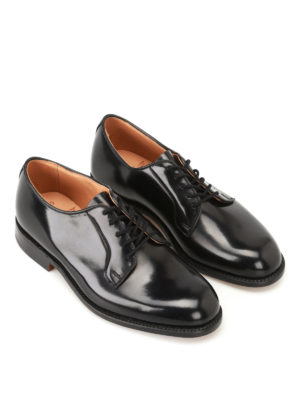 Tricker's: classic shoes online - Robert brushed leather Derby shoes