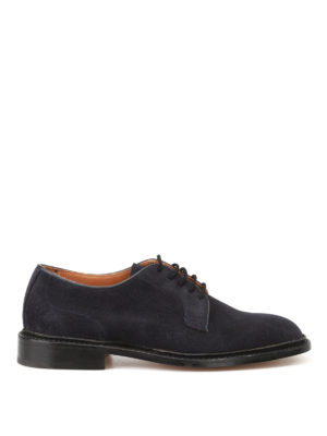 Tricker's: classic shoes - Robert blue suede Derby shoes
