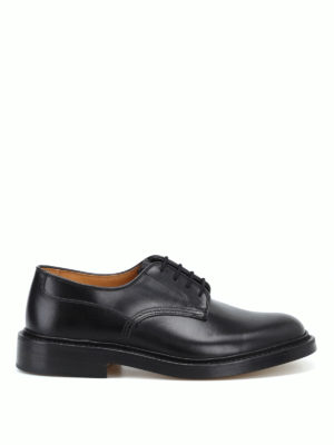 TRICKER'S: classiche - Derby stringate Woodstock in pelle nera