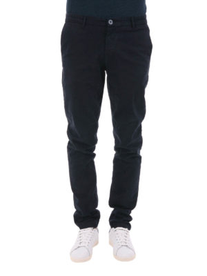 Trussardi: casual trousers online - Stretch cotton chino trousers