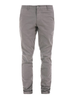 Trussardi: casual trousers - Stretch cotton chino trousers