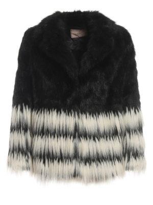 TWINSET: Fur & Shearling Coats - Bicolour faux fur jacket