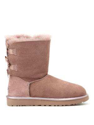 Ugg: ankle boots - Bailey Bow II Metallic booties