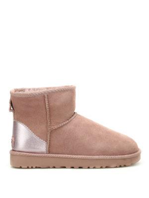 Ugg: ankle boots - Classic Mini II metallic booties