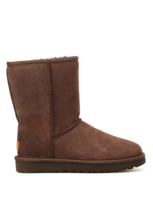 Ugg: ankle boots - Classic Short II brown ankle boots