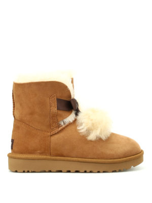 Ugg: ankle boots - Gita beige suede booties