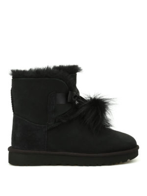 Ugg: ankle boots - Gita black suede booties