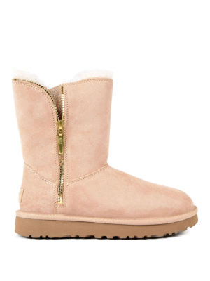 Ugg: ankle boots - Marice pink suede booties